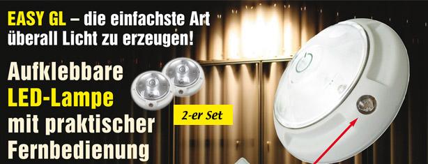 2 led lampen mit fernbedienung trendmail shop. Black Bedroom Furniture Sets. Home Design Ideas