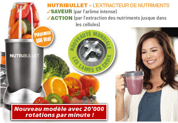 nutribullet extracteur de nutrition shop trendmail. Black Bedroom Furniture Sets. Home Design Ideas