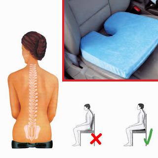 Coussin Seat Solution, housse en tissu bleu