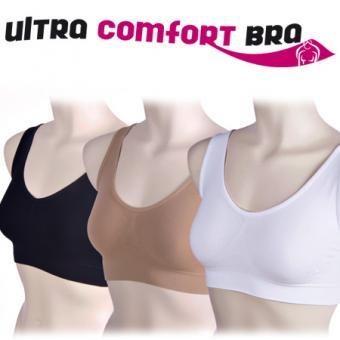 Ultra Comfort Bra, Grösse XXL, 3er-BH-Set (beige/schwarz/weiss) XXL
