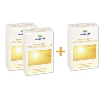 Action 3 pour 2 ImmunoFit D3/capsules de magnésium 3x60 capsules