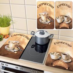 Couvre-plaques universel, Sujet: CAFE, 2 pièces