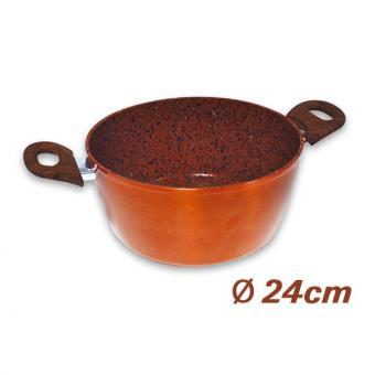 Copper & Stone Casserole, 24 cm