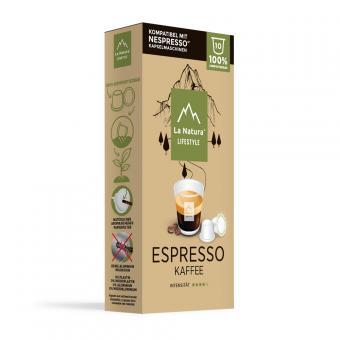 La Natura Espresso - 10 capsules de café NES