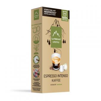 La Natura Espresso Intenso-10 capsules de café NES