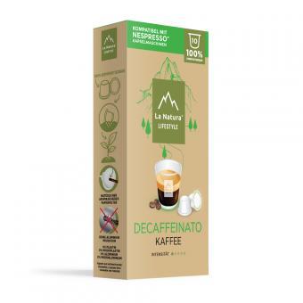 La Natura Decaffeinato-10 capsules de café NES