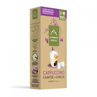 La Natura Cappuccino-5 capsules de café + 5 capsules de lait NES