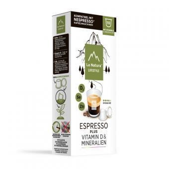 La Natura Espresso Plus - 10 capsules de café NES
