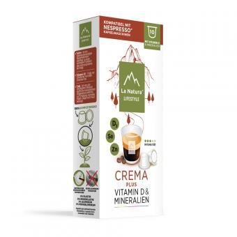 La Natura Crema Plus - 10 capsules de café NES