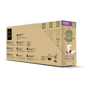 La Natura Cappucino Set - 50 Kaffee- & 50 Milchkapseln NES