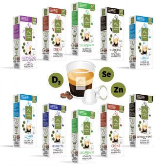 La Natura Kaffee mit Vitamin D & Mineralien Set - 100 Kapseln NES