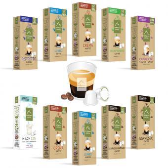La Natura Kaffee-Geniesser Set - 100 Kapseln NES