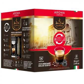 SanSiro Aroma 14 capsules de café DG-Box