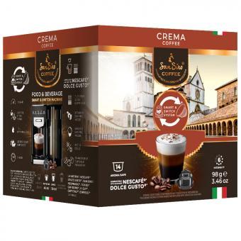 SanSiro Crema 14 capsules de café DG-Box