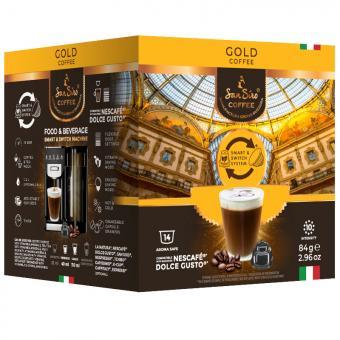 SanSiro Gold 14 capsules de café DG-Box