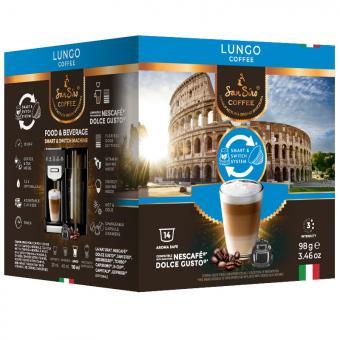 SanSiro Lungo 14 capsules de café DG-Box