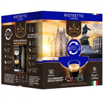 SanSiro Ristretto 14 capsules de café DG-Box
