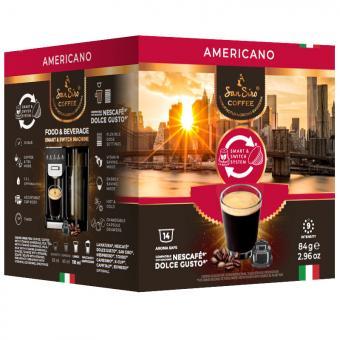 SanSiro Americano 14 Kaffeekapseln DG-Box