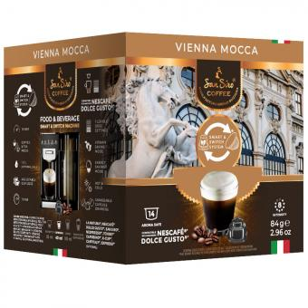 SanSiro Vienna Mocca 14 Kaffeekapseln DG-Box