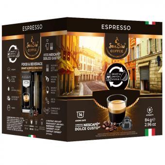 SanSiro Espresso 14 capsules de café DG-Box