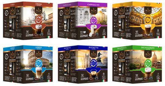 SanSiro Geniesser Set - 6 Sorten Kaffeekapseln - Dolce Gusto kompatibel