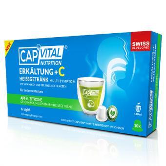 CapVital Refroidissement + boisson chaude C - Pomme-Citron - 10 capsules