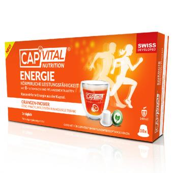 CapVital Énergie & Performances physiques - Orange-Gingembre - 10 capsules