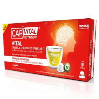 CapVital Vital Geistige Leistungsfähigkeit - Ginseng-Guarana - 10 Kapseln