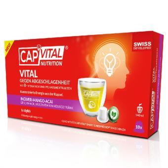 CapVital contre la léthargie - Mangue-Gingembre-Acai - 10 capsules