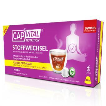 CapVital Métabolisme - Vanille-Cannelle-Agave - 10 capsules