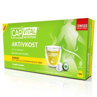 CapVital Aktivkost - Ananas - 10 Getränkekapseln