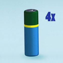 Batterien-Set 4Stk. AA (LR6)