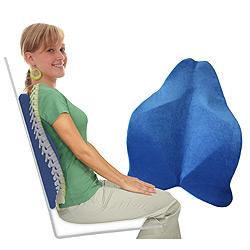 coussin dos Coussin de confort pour le dos, bleu | Shop Trendmail coussin dos